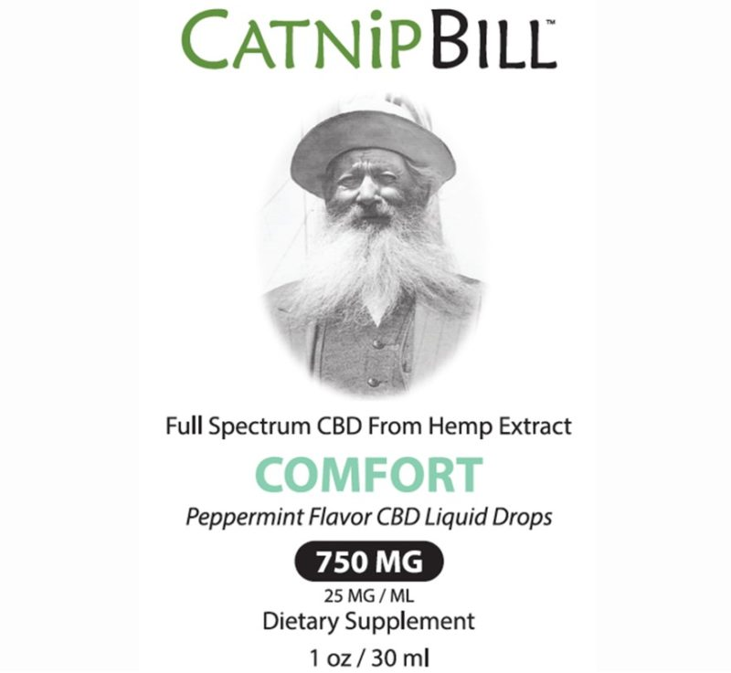 Catnip Bill Peppermint Flavor CBD Oil 750mg